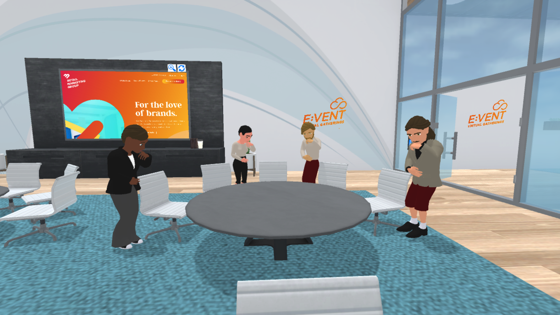Virtual events with colleagues